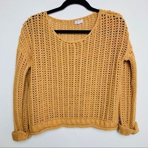 GANJI LA crocheted knit sweater